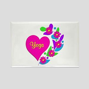 Yoga Heart Rectangle Magnet