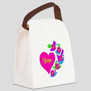 Yoga Heart Canvas Lunch Bag