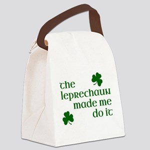 The Leprechaun Made Me Do It (Gre Canvas Lunch Bag