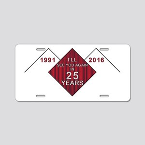 Twin Peaks 25 Years Later Aluminum License Plate