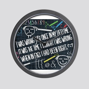 philosophy of life Wall Clock
