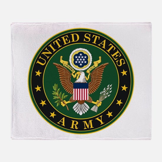 US Army Throw Blanket