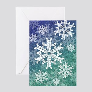 Celtic knot snowflake greeting cards cafepress celtic snowflake greeting card m4hsunfo