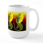 Firey Watcher Dragon Large Mug
