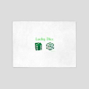 Lucky Dice 5'x7'Area Rug