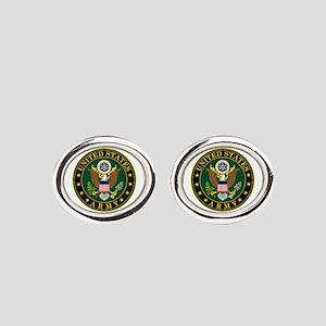 US Army Oval Cufflinks