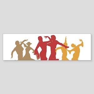 Colorful Flamenco Dancers Bumper Sticker