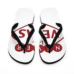 Never in Vegas Flip Flops