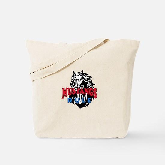 MUSTANGS RULE Tote Bag