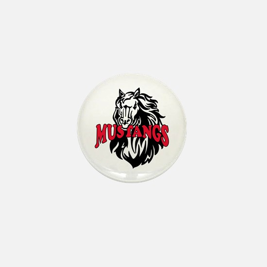 MUSTANG MASCOT Mini Button