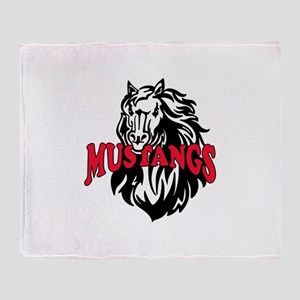 MUSTANG MASCOT Throw Blanket