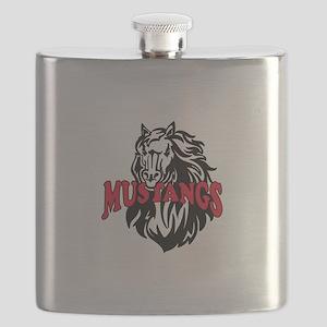 MUSTANG MASCOT Flask