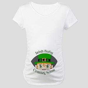 Irish Baby Coming Soon - Leprech Maternity T-Shirt