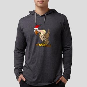 Funny Buzzard in Santa Hat Chr Long Sleeve T-Shirt