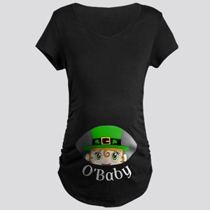 O'Baby - Leprechaun Peeking Maternity T-Shirt