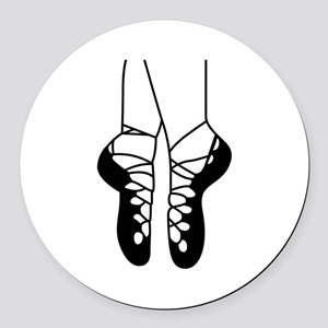 IRISH DANCE SHOES ONE COLOR Round Car Magnet