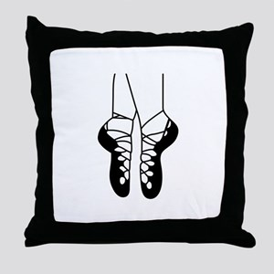 IRISH DANCE SHOES ONE COLOR Throw Pillow