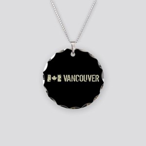 Canadian Flag: Vancouver Necklace Circle Charm
