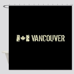 Canadian Flag: Vancouver Shower Curtain