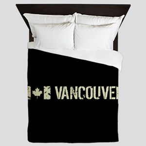 Canadian Flag: Vancouver Queen Duvet