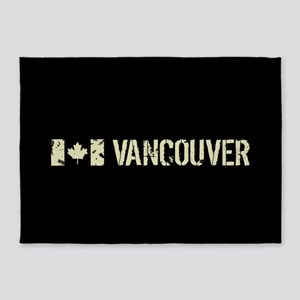 Canadian Flag: Vancouver 5'x7'Area Rug