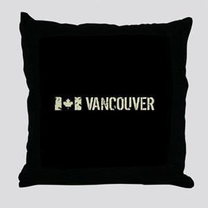 Canadian Flag: Vancouver Throw Pillow