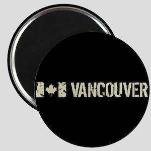 Canadian Flag: Vancouver Magnet