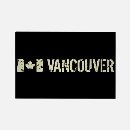 Canadian Flag: Vancouv Rectangle Magnet (100 pack)