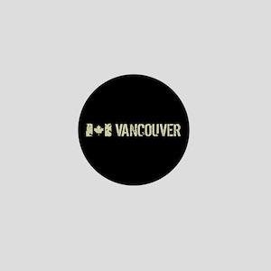 Canadian Flag: Vancouver Mini Button