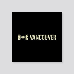 """Canadian Flag: Vancouver Square Sticker 3"""" x 3"""""""
