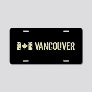 Canadian Flag: Vancouver Aluminum License Plate