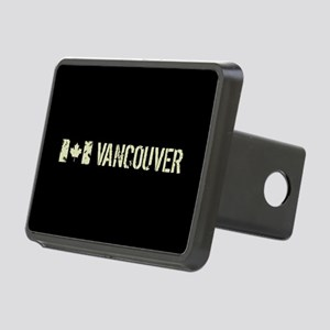 Canadian Flag: Vancouver Rectangular Hitch Cover