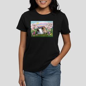 Pom Pair in Blossoms Women's Dark T-Shirt