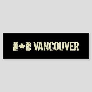 Canadian Flag: Vancouver Sticker (Bumper)