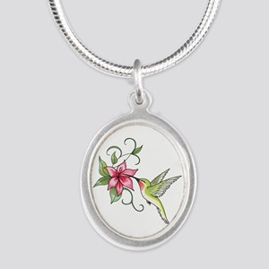 HUMMINGBIRD AND FLOWER Necklaces