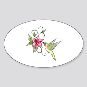 HUMMINGBIRD AND FLOWER Sticker