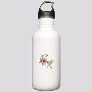 HUMMINGBIRD AND FLOWER Water Bottle