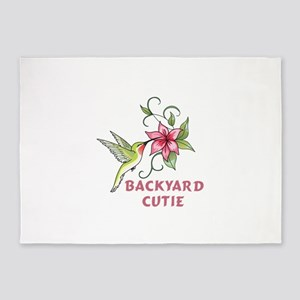 BACKYARD CUTIE 5'x7'Area Rug