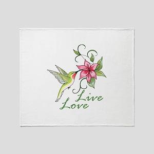 LIVE LOVE Throw Blanket