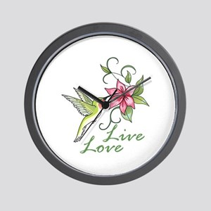 LIVE LOVE Wall Clock