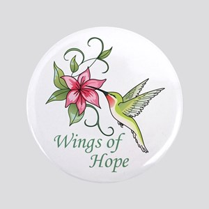 "WINGS OF HOPE 3.5"" Button"