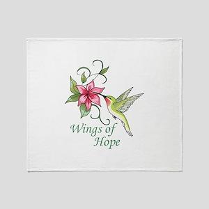 WINGS OF HOPE Throw Blanket