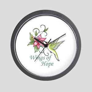 WINGS OF HOPE Wall Clock