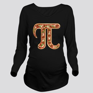 Pizza Pi Long Sleeve Maternity T-Shirt