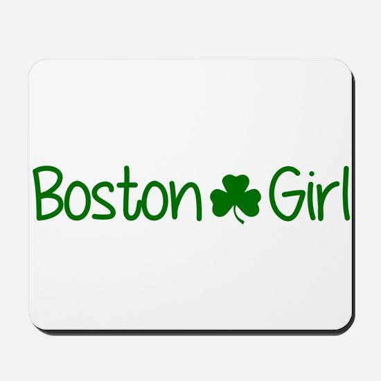 Boston Girl Shamrock (Green) Mousepad