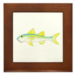 Yellow Goatfish Framed Tile
