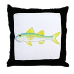 Yellow Goatfish Throw Pillow