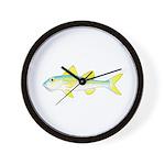 Yellow Goatfish Wall Clock