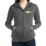 Yellow Goatfish Women's Zip Hoodie
