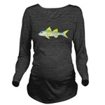 Yellow Goatfish Long Sleeve Maternity T-Shirt